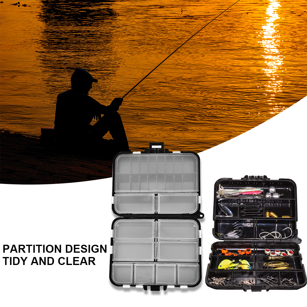 Multi-functional Fishing Lures Hook Box Waterproof Partition Storage Fish Tackle Case, Lure Box, Fishing Case by