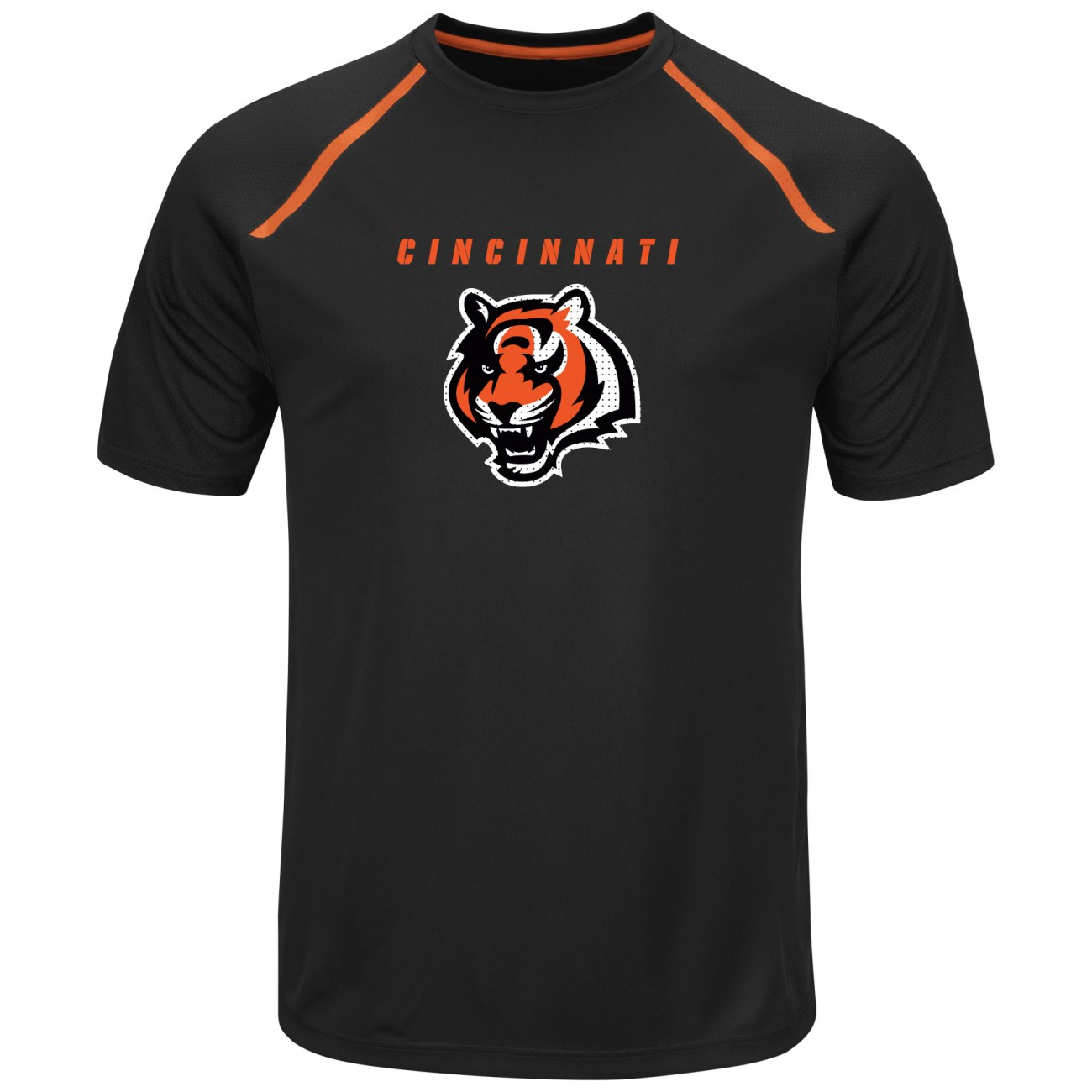 "Cincinnati Bengals Majestic NFL ""Fanfare 8"" Men's Short Sleeve Cool Base Shirt by Majestic"