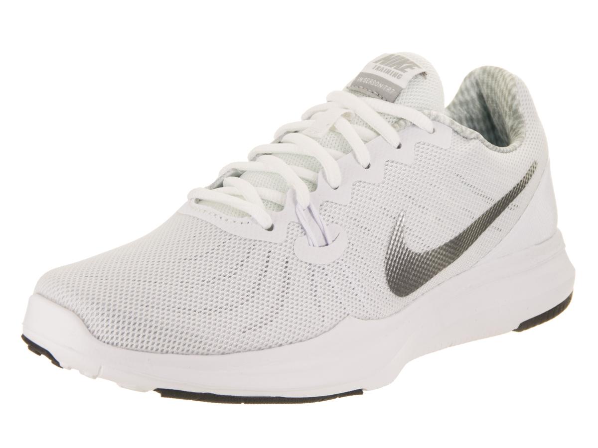Nike Women's In-Season Tr 7 White/Metallic/Silver Training Shoe 6.5 Women US