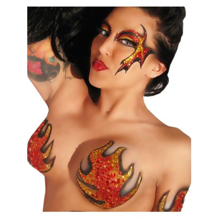 TATA Blaze BODY ART Body Paint Dancer Stripper Devil Costume Stickers XoticEyes