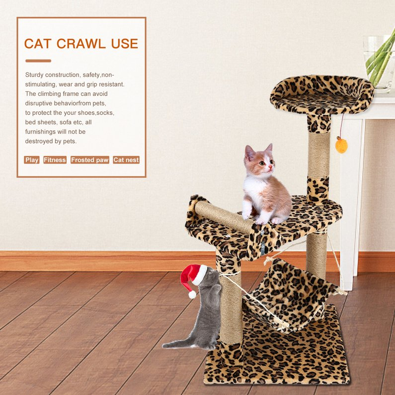 2018 New Upgraded M32 Pet Cat Tree Climbing Frame Toy Cat Scratching Posts Cat Scratch Board Jumping Ship... by