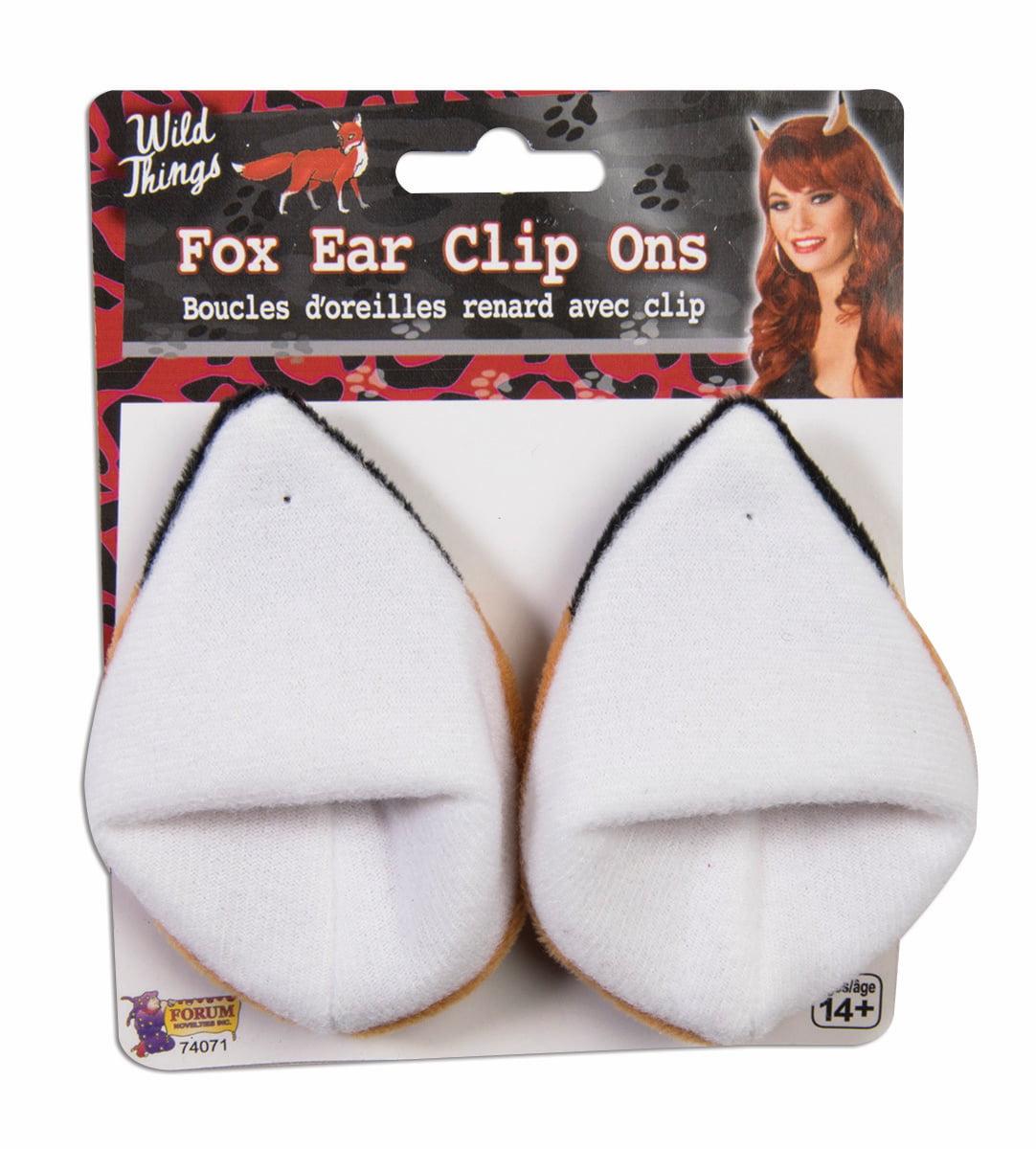 Fox Ears Hair Clips Faux Fur Costume Accessory Adult Child Girls Headpiece