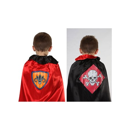 Image of Knight and Pirate Reversible Musical Cape Acting Out 15001