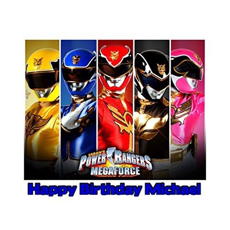 Power Rangers Megaforce Edible Frosting Image  Cake Topper - 1/4 Sheet - - Power Ranger Cakes