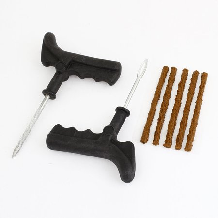 Plastic Grip Tubeless Tyre Puncture Plug Repair Tool 3 in 1 Set for Car