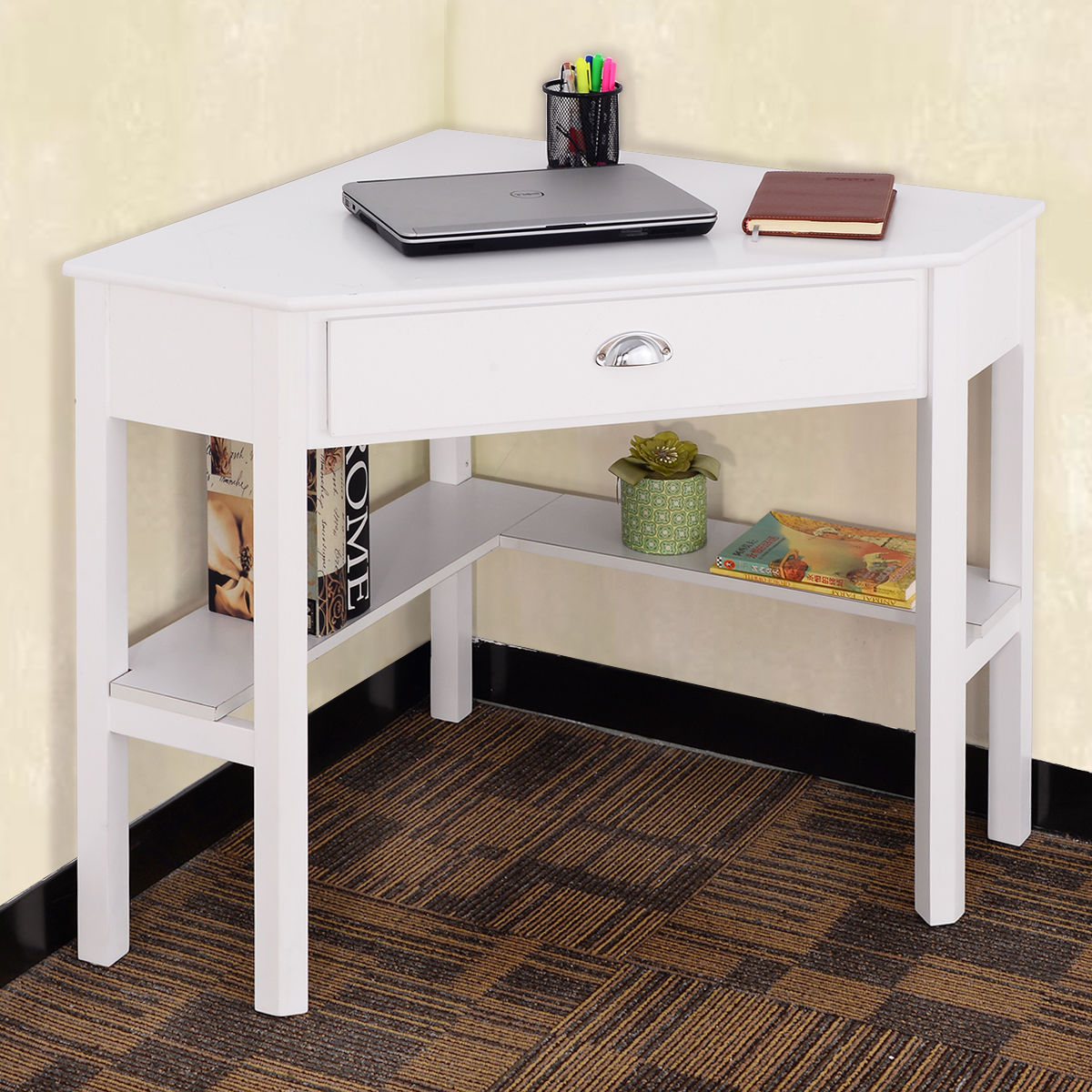 home office desk corner. costway corner computer desk laptop writing table wood workstation home office furniture