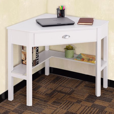 Costway Corner Computer Desk Laptop Writing Table Wood Workstation Home Offic