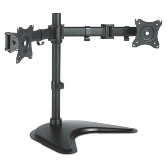 Dual Monitor Arms with Base, Black