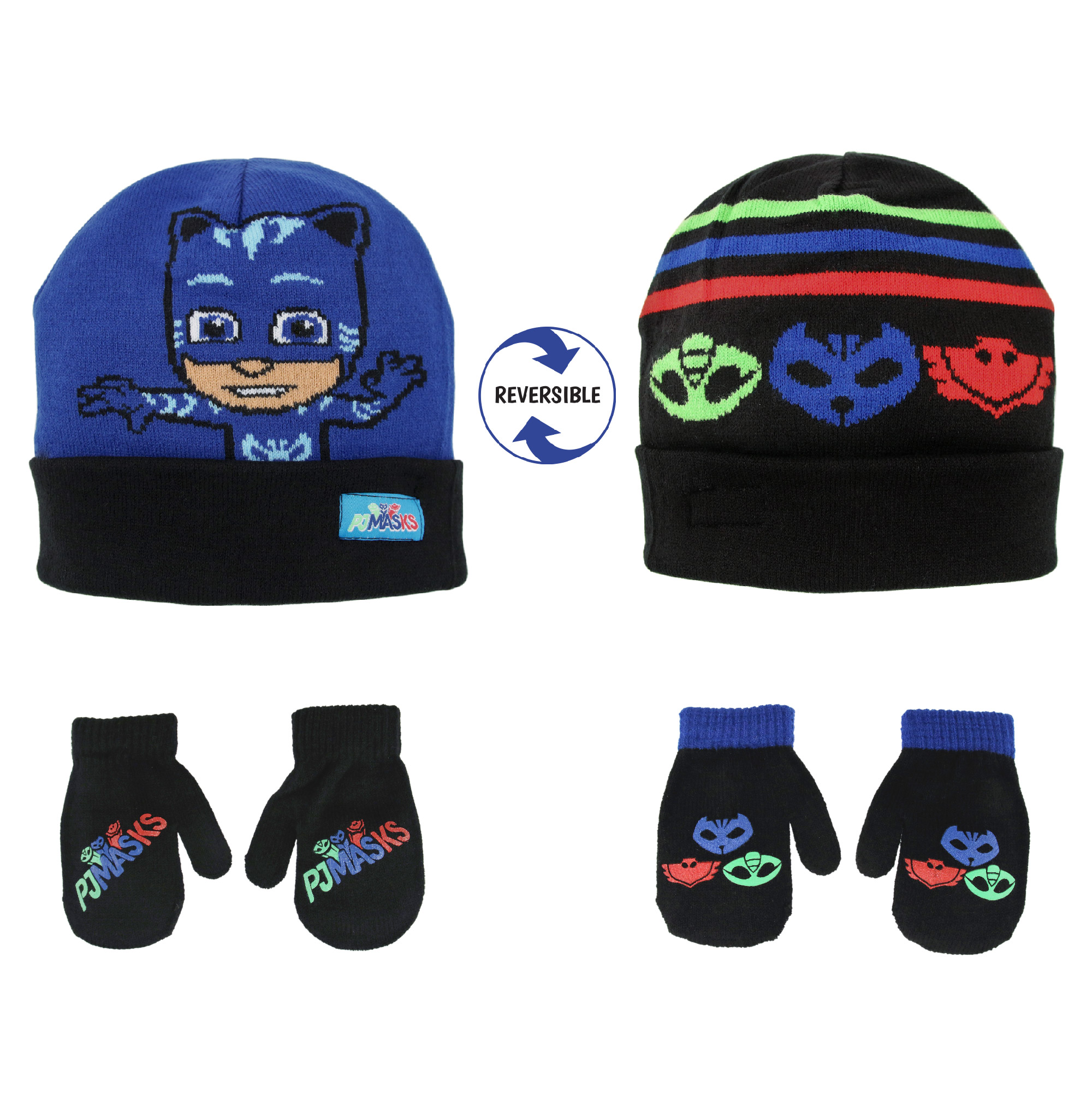 Boys Skeleton Skull Hat with Peak /& Glove Set Ages 2-6 Years