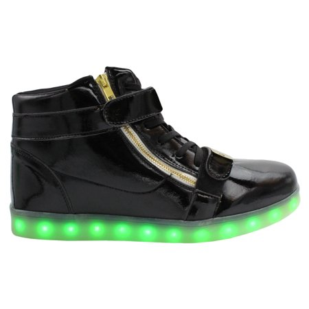 Galaxy LED Shoes Light Up USB Charging High Top Men?s Sneakers
