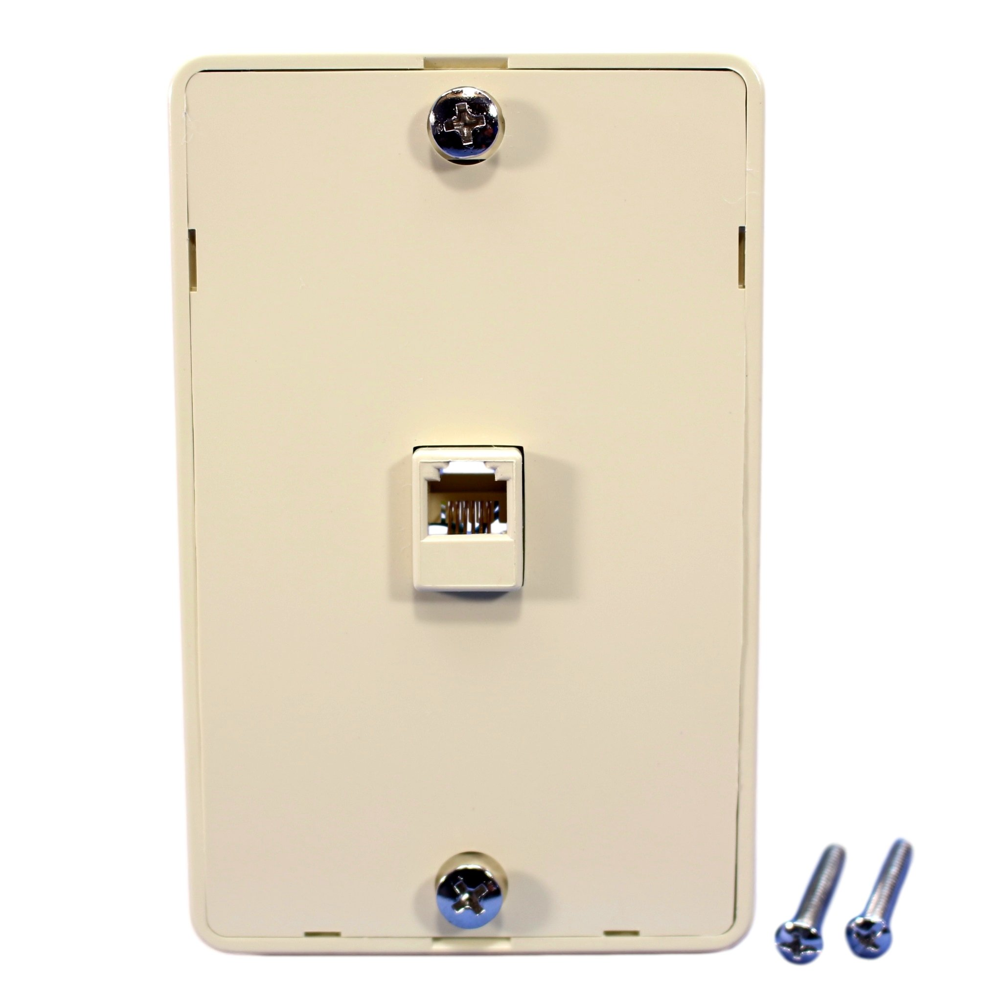 Cooper 3521-6v Ivory Quick Mount Six Wire Telephone Jack And Wall Plate