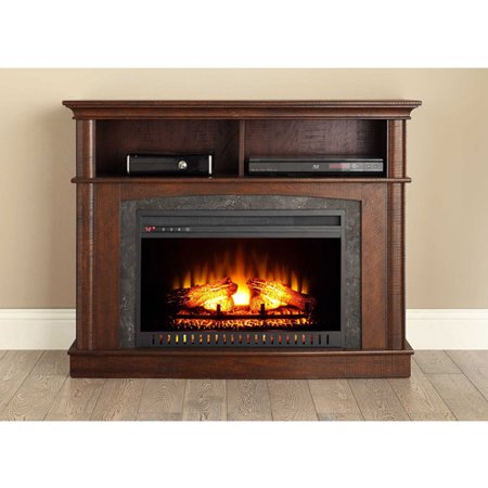 Whalen Media Fireplace Console For Tvs Up To 45 Rustic Brown Best Tv Stands