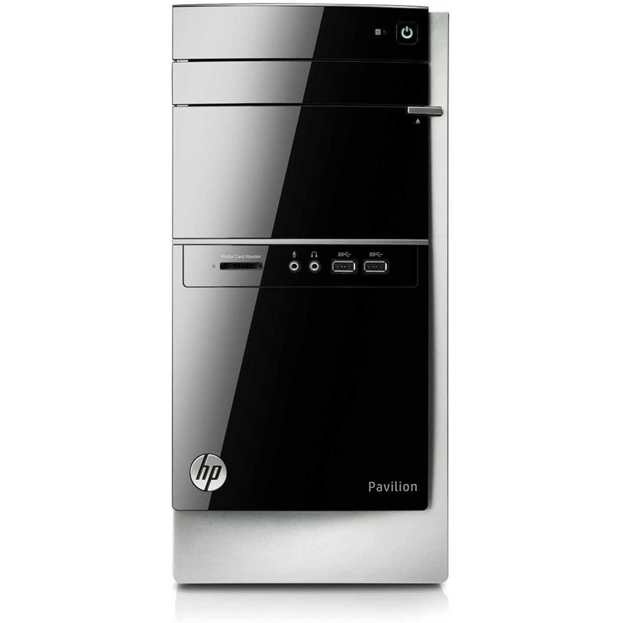Refurbished HP Black Pavilion 500 - 270 Desktop PC with Intel Core i3 - 4130 processor, 8GB Memory, 1TB Hard Drive and Windows 8.1 (Monitor Not Included) (Eligible for Free Windows 10 Upgrade)