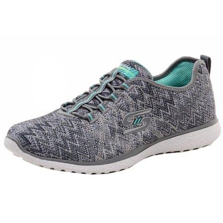 Skechers Skechers Women's Microburst Fluctuate Memory Foam Black Fashion Sneakers Shoes from Walmart | Shop