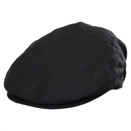 Linen and Cotton Ivy Cap - XXL - Black