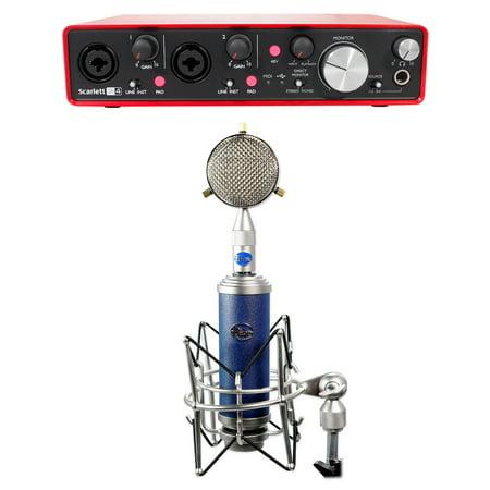Blue Bottle Rocket Stage 1 Condenser Microphone+Stand+Shield+Scarlett