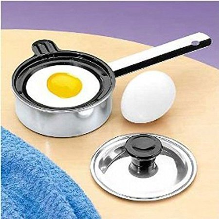 Individual Single Egg Poacher Non Stick Aluminum with Cover (1 Each) New, Individual By Unknown