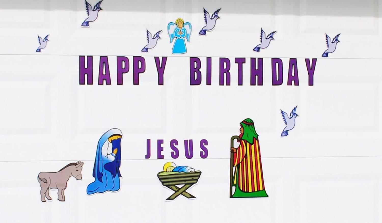 Mary, Joseph and Baby Jesus Christmas Nativity Magnetic Door ...