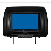 "CONCEPT CLS-703 7"""" LCD Headrest 3 Color Covers, Black Grey"