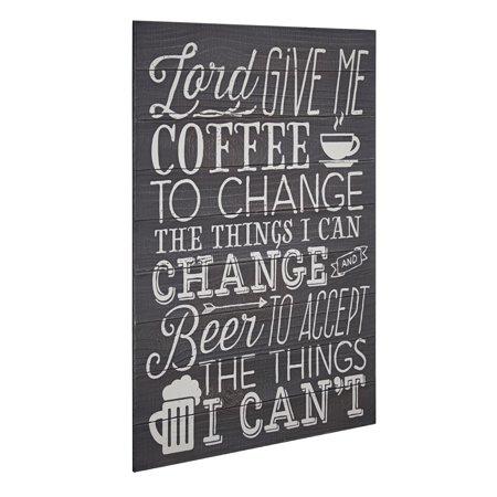 American Art Decor Coffee Beer Textual Art Plaque Wall Decor Sign American Eagle Wall Plaques