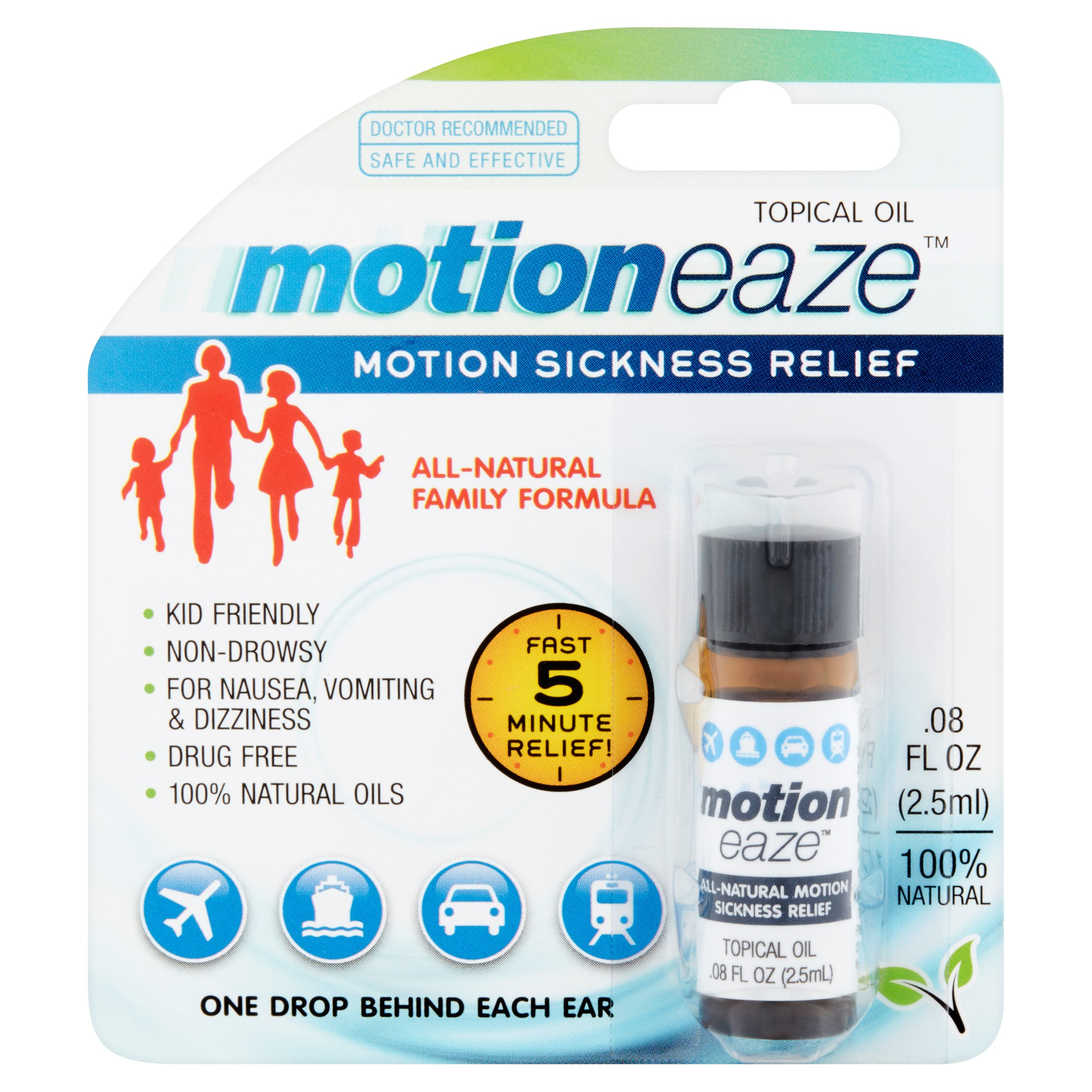 Motioneaze Motion Sickness Relief Topical Oil, .08 fl oz, 20 application
