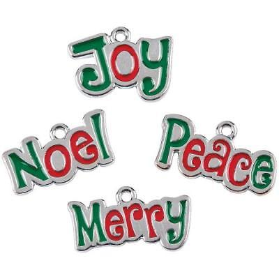 IN-13751245 Christmas Words Enamel Charms