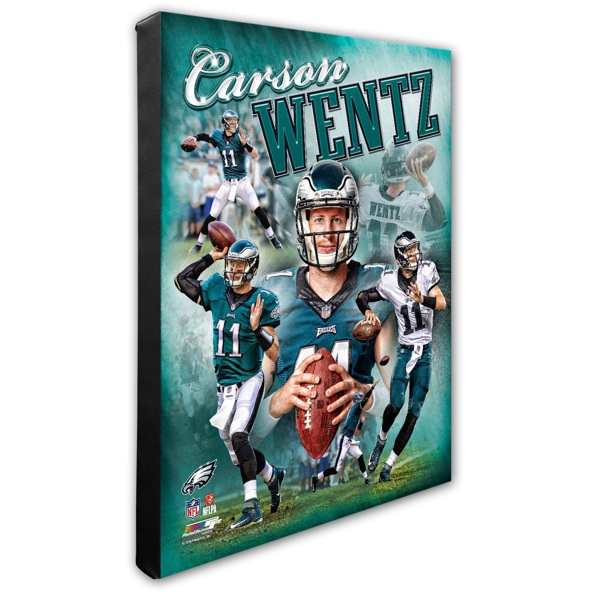 """Carson Wentz Philadelphia Eagles 16"""" x 20"""" Player Portrait Canvas - No Size"""