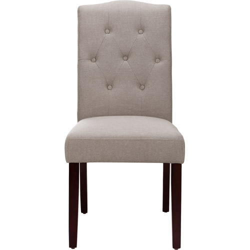 Better Homes And Gardens Parsons Tufted Dining Chair, Taupe   Walmart.com