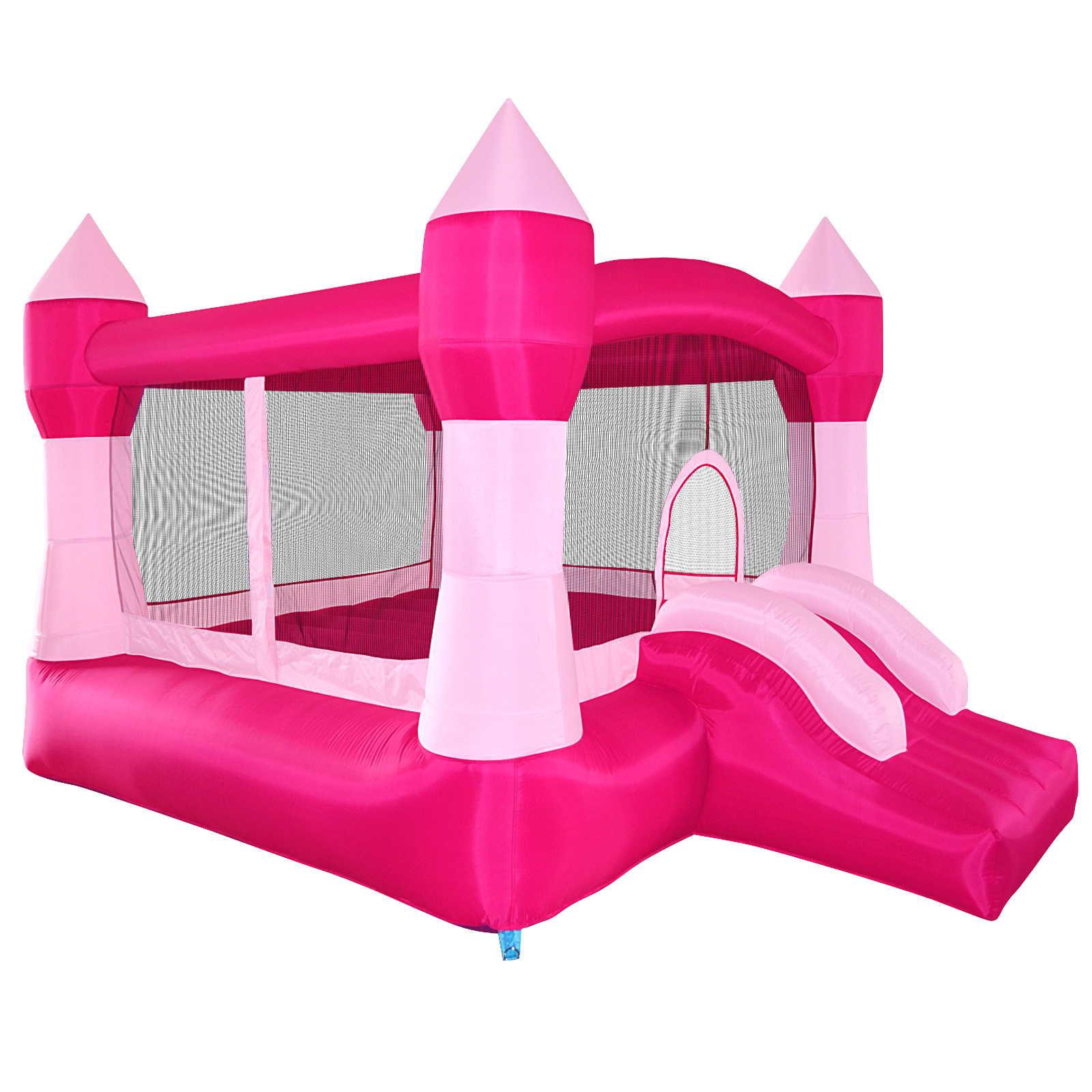 Cloud 9 Princess Inflatable Bounce House - Pink Castle Theme