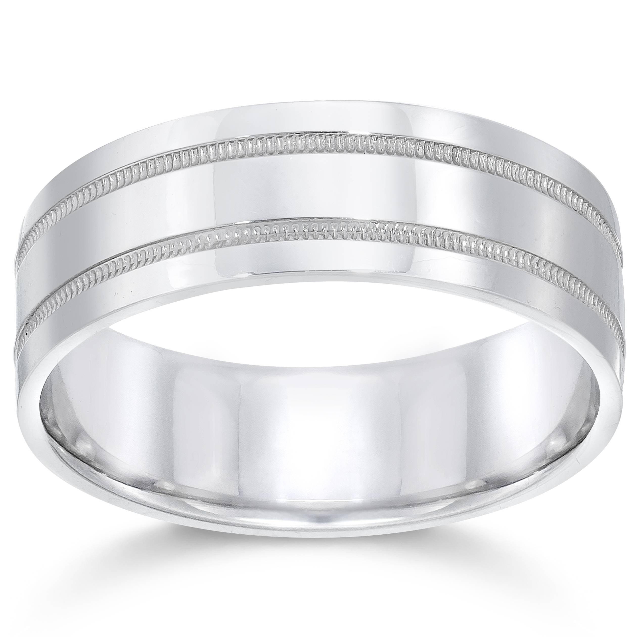 7mm 950 Platinum Comfort Fit Wedding Band New Ring by Pompeii3