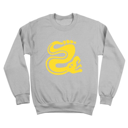 10 Ounce Crewneck Sweatshirt - Silver Snakes Team Costume Small Gray Crewneck Sweatshirt