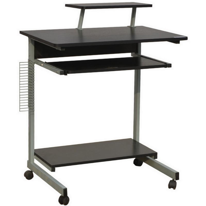 Homegear Compact Home Office Computer Desk on Wheels Black