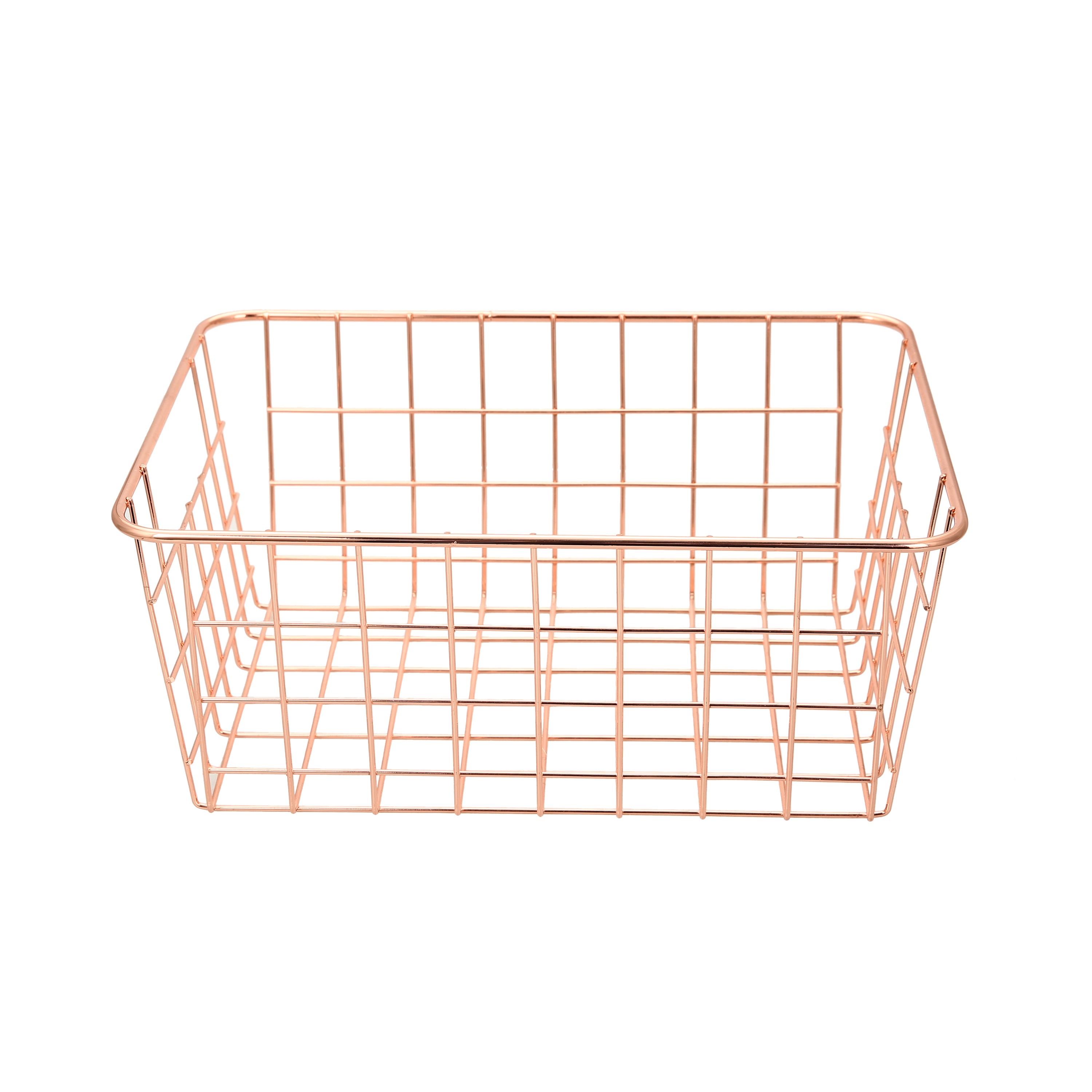 Mainstays 2PK Rose Gold Wire Basket