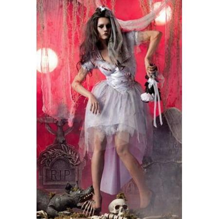 Raveware Zombie Bride PK181 Grey/White - Zombie Bride