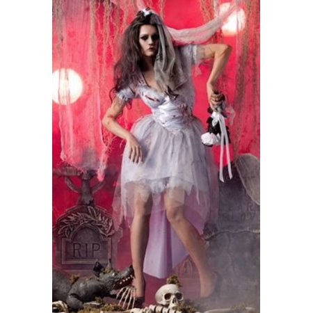 Raveware Zombie Bride PK181 Grey/White