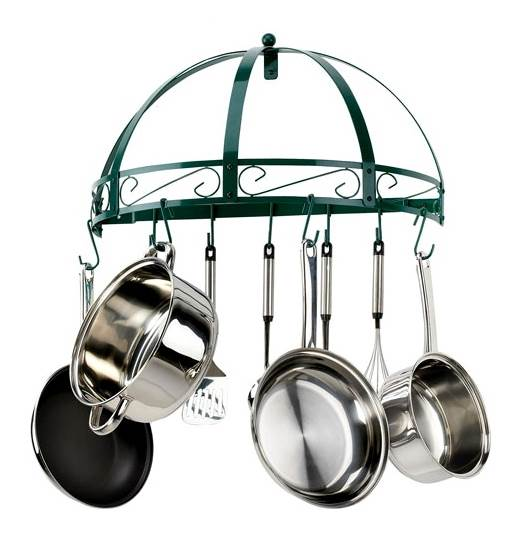 26 in. Wrought Iron Pot Rack