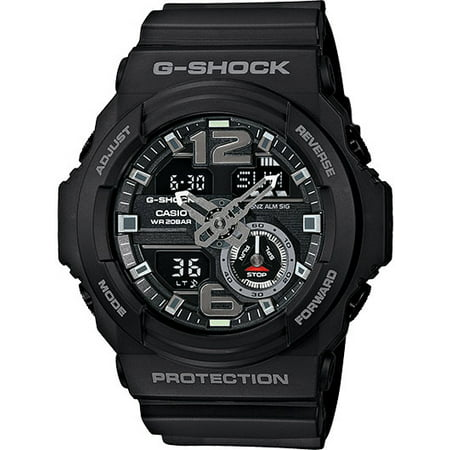 Black G-Shock Analog Digital Watch - 13 Mm Front Shock
