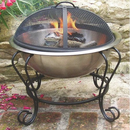 Decorative Stainless Steel 18 Quot Fire Pit Walmart Com