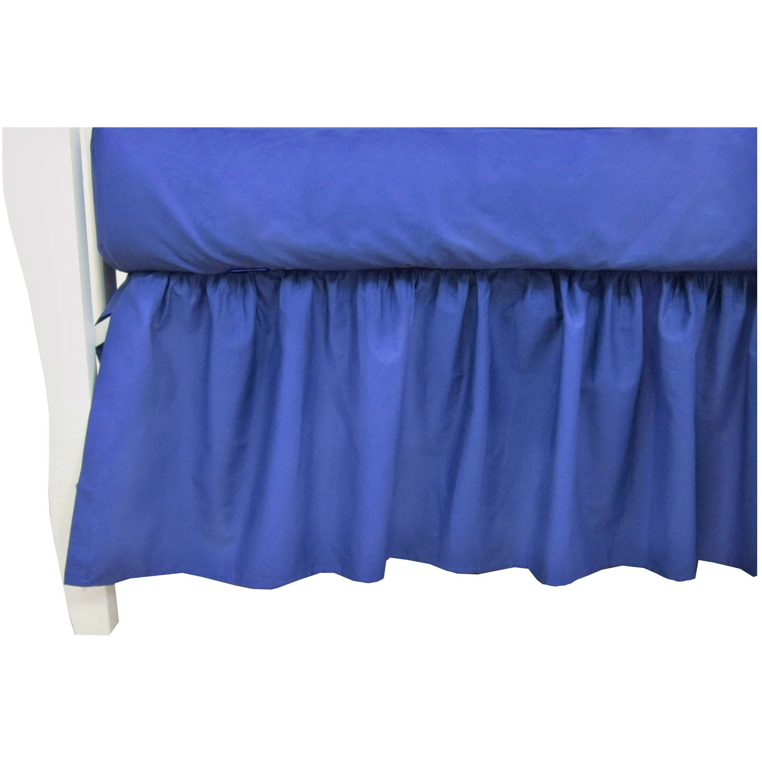 TL Care Cotton Percale Crib Bed Skirt, Royal
