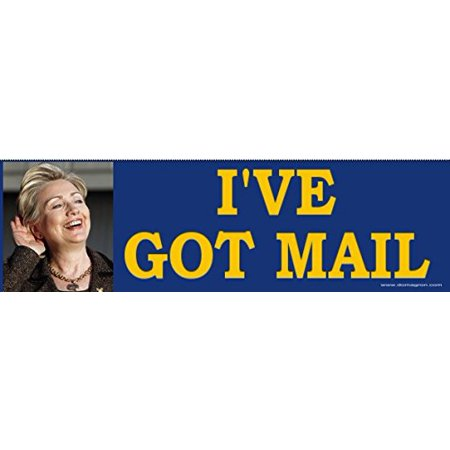 Hilary Clinton E-Mail Scandal Bumper Sticker, By DOMAGRON