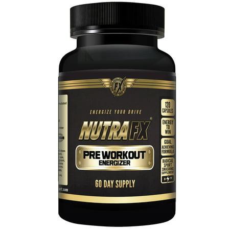 Pré entraînement 120 Capsules - Stimulant puissant pour l'énergie et Focus Avec Muscul acides aminés, 60 Portions par NutraFX
