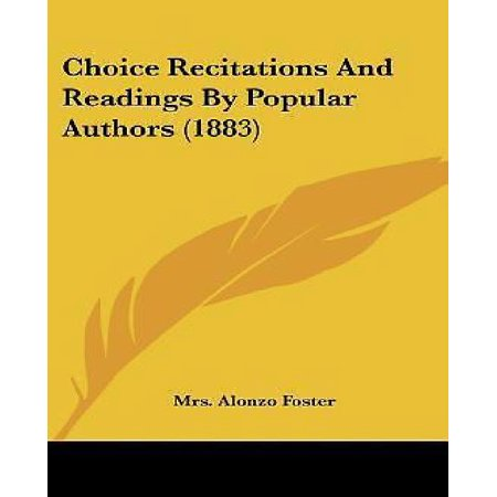 Choice Recitations and Readings by Popular Authors - image 1 of 1