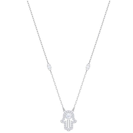Large Hamsa Necklace - Swarovski Luckily Hamsa Hand Necklace : 5429731
