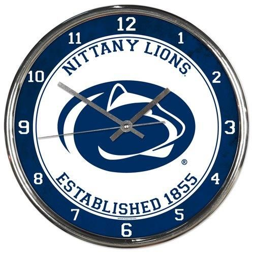 Penn State Nittany Lions Round Chrome Wall Clock