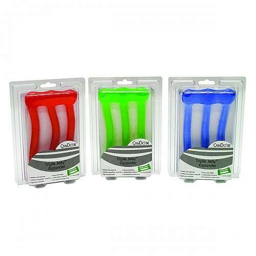 CanDo Jelly 3-tube exerciser 3 piece set (red, green, blue)