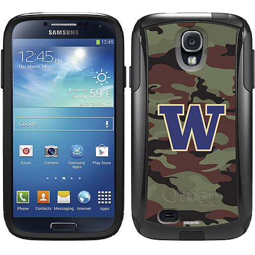 University of Washington Camo 1 Design on OtterBox Commuter Series Case for Samsung Galaxy S4