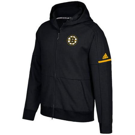 Adidas Hood (Men's adidas Black Boston Bruins Authentic Pro Squad ID Full-Zip Hooded)