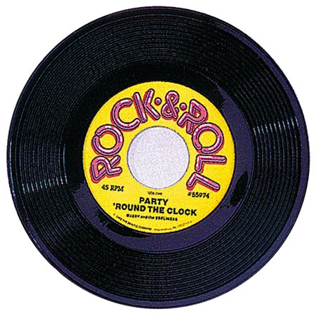 RECORD PLASTIC DECORATION 19IN - Record Decorations