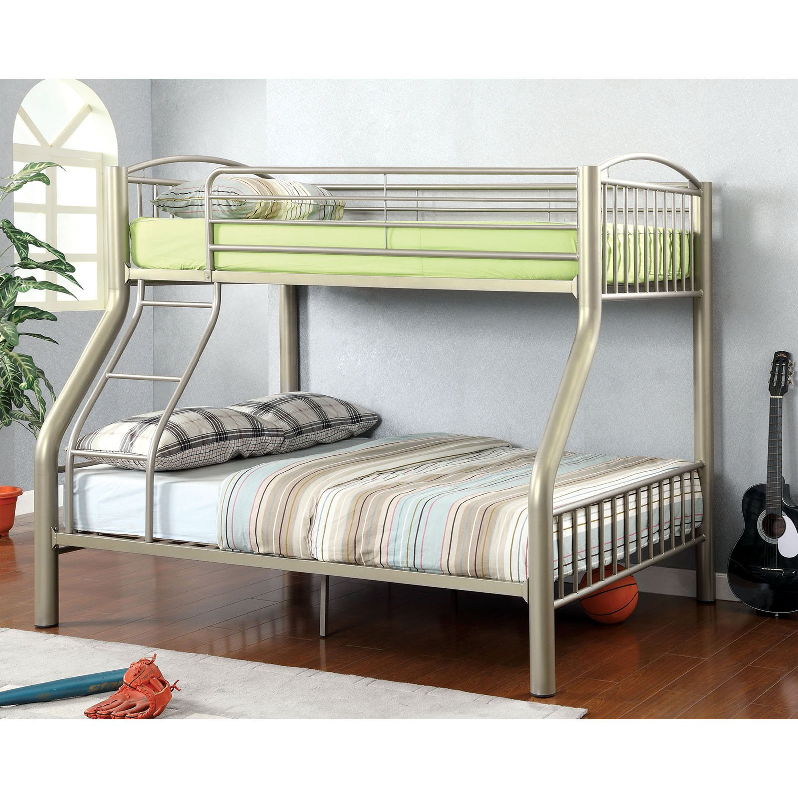 Maverick Made Twin over Full Bunk Bed - Metallic Gold