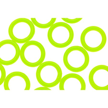 - 25pcs Neon Green O-Ring For Licorice Leather 2x12mm